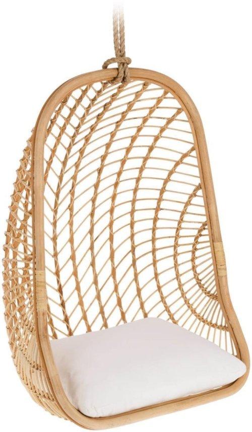 På billedet ser du variationen Ekaterina, Udendørs hængestol fra brandet LaForma i en størrelse H: 127 cm. B: 85 cm. L: 73 cm. i farven Natur/Hvid