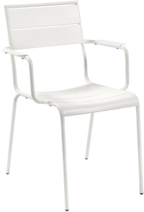 På billedet ser du variationen Athalia, Udendørs spisebordsstol fra brandet LaForma i en størrelse H: 84 cm. B: 59 cm. L: 65 cm. i farven Hvid