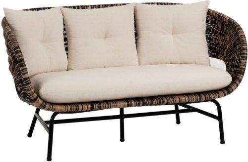 På billedet ser du variationen Lin, 2-personers sofa fra brandet LaForma i en størrelse H: 83 cm. B: 153 cm. L: 77 cm. i farven Natur