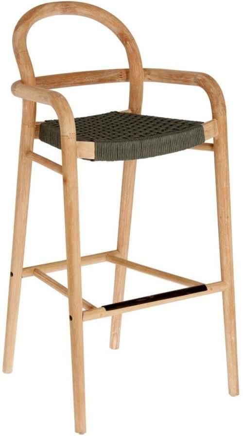 På billedet ser du variationen Sheryl, Udendørs barstol fra brandet LaForma i en størrelse H: 110 cm. B: 54 cm. L: 56 cm. i farven Natur/Grøn