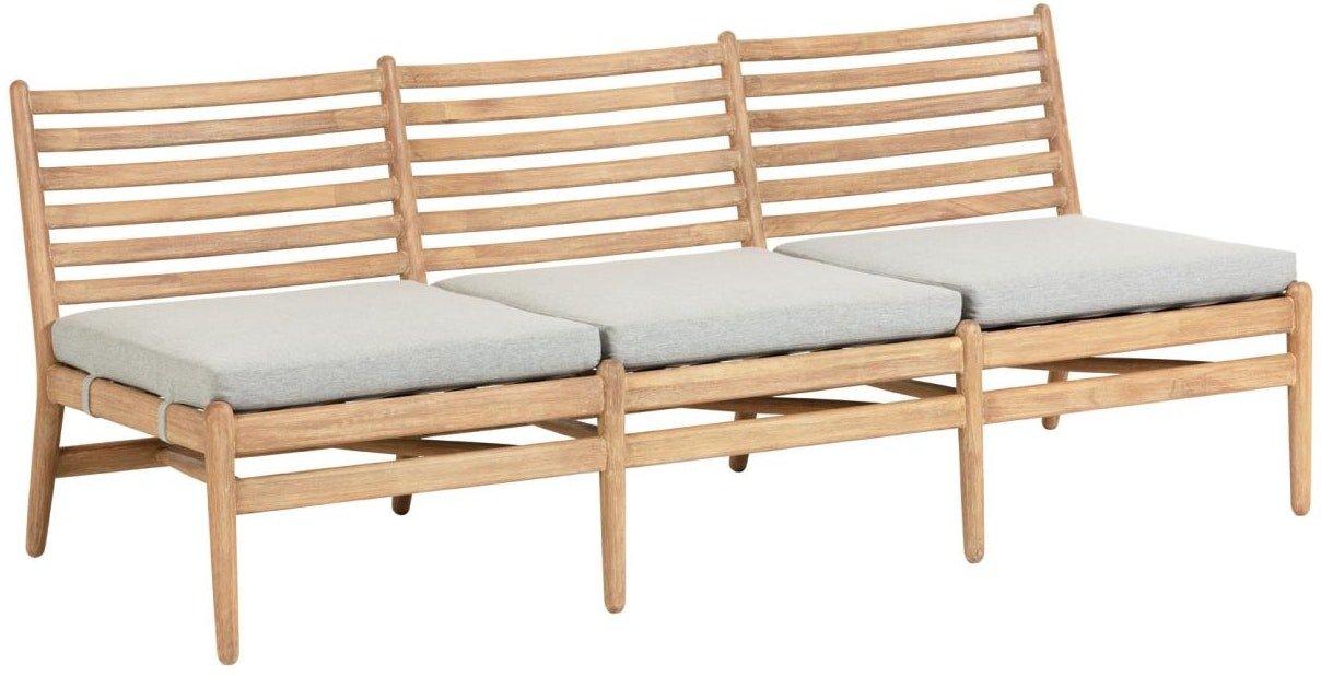 Simja, Udendørs 3-personers sofa by LaForma (H: 71 cm. B: 180 cm. L: 77 cm., Natur/Grå)