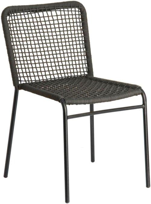 På billedet ser du variationen Pradesh, Spisebordsstol fra brandet LaForma i en størrelse H: 82 cm. B: 52 cm. L: 60 cm. i farven Sort