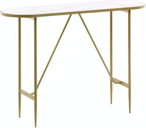 På billedet ser du variationen Elisenda, Konsolbord fra brandet LaForma i en størrelse H: 76 cm. B: 110 cm. L: 35 cm. i farven Guld/Hvid