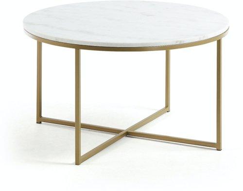 På billedet ser du variationen Sheffield, Kaffebord fra brandet LaForma i en størrelse H: 46 cm. B: 80 cm. L: 80 cm. i farven Hvid Guld
