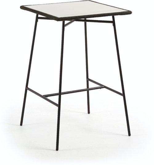 På billedet ser du variationen Leora, Udendørs spisebord fra brandet LaForma i en størrelse H: 103 cm. B: 70 cm. L: 70 cm. i farven Grå/Sort