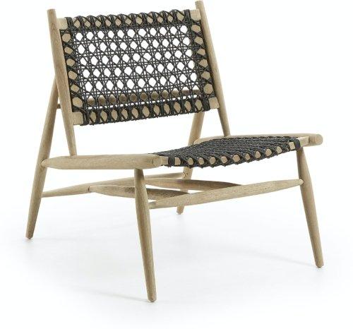 På billedet ser du variationen Unique, Udendørs lænestol fra brandet LaForma i en størrelse H: 79 cm. B: 66 cm. L: 80 cm. i farven Sort/Natur