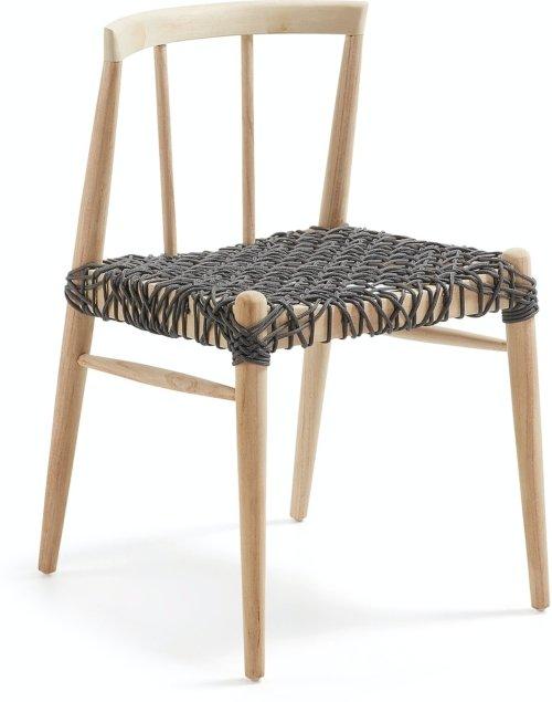På billedet ser du variationen Dreaming, Udendørs spisebordsstol fra brandet LaForma i en størrelse H: 75 cm. B: 49 cm. L: 52 cm. i farven Natur/Sort
