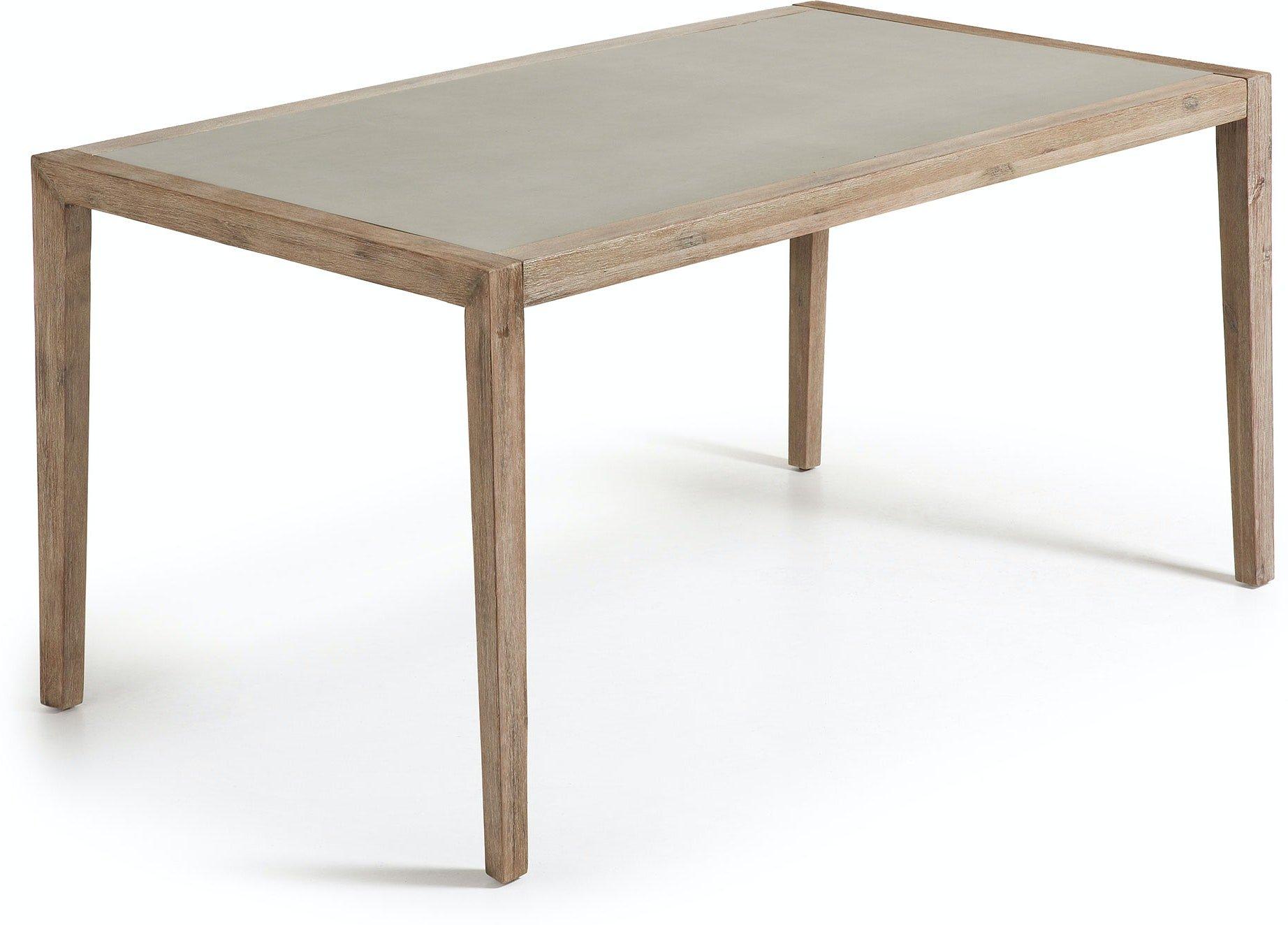Køb Vetter, Udendørs spisebord by LaForma (H: 76 cm. B: 160 cm. L: 90 cm., Grå/Natur)