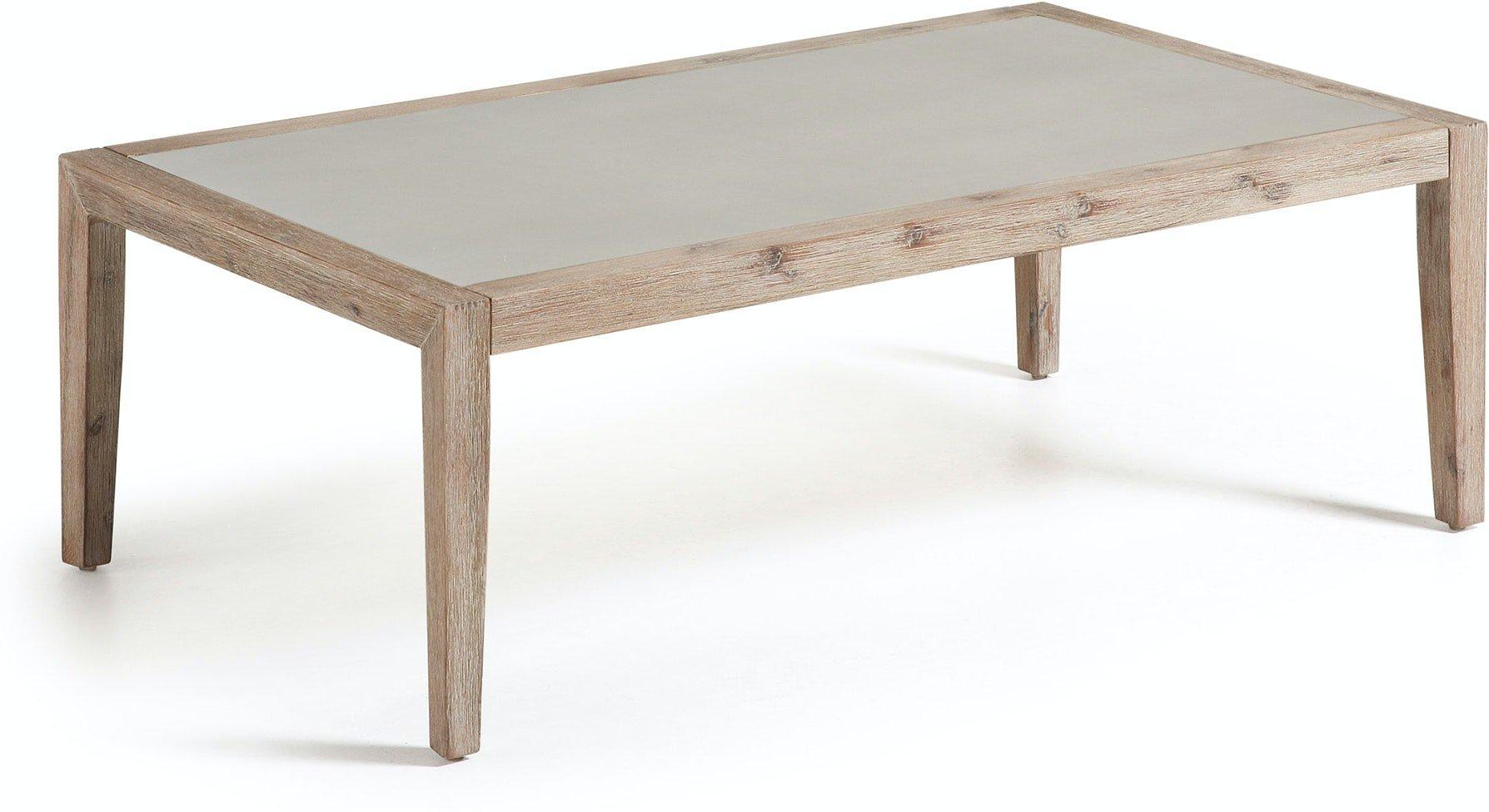 Køb Vetter, Udendørs sofabord by LaForma (H: 40 cm. B: 120 cm. L: 70 cm., Grå/Natur)