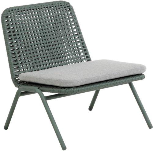 På billedet ser du variationen Wivina, Udendørs lænestol fra brandet LaForma i en størrelse H: 72 cm. B: 70 cm. L: 62 cm. i farven Grøn