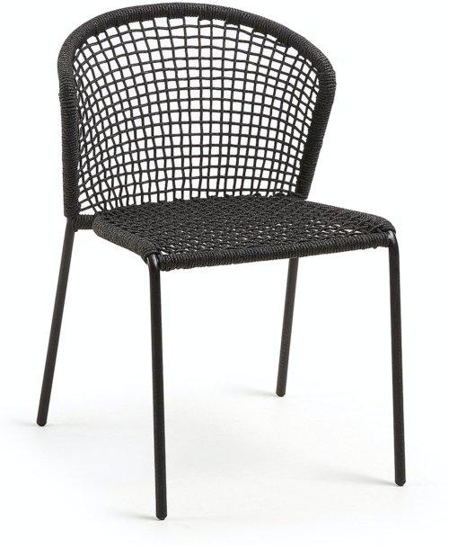 På billedet ser du variationen Mathias, Udendørs spisebordsstol fra brandet LaForma i en størrelse H: 79 cm. B: 55 cm. L: 62 cm. i farven Sort