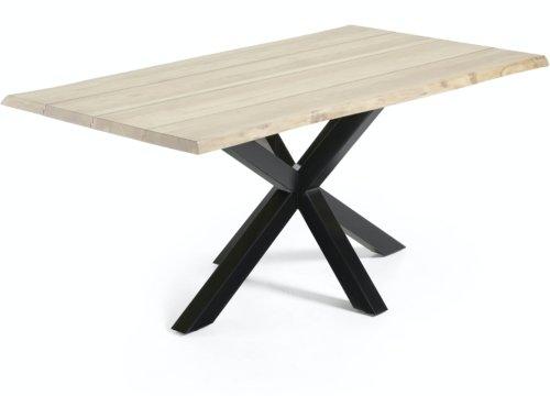 På billedet ser du variationen Argo, Spisebord med krydsstel, Massiv træ fra brandet LaForma i en størrelse H: 78 cm. B: 180 cm. L: 100 cm. i farven Natur/Sort