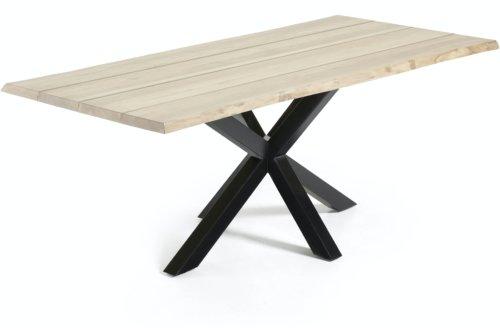 På billedet ser du variationen Argo, Spisebord med krydsstel, Massiv træ fra brandet LaForma i en størrelse H: 78 cm. B: 220 cm. L: 100 cm. i farven Natur/Sort