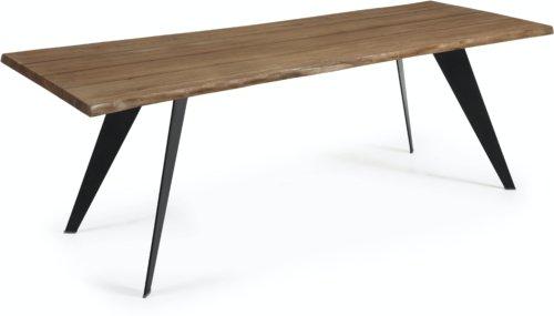 På billedet ser du variationen Koda, Spisebord fra brandet LaForma i en størrelse H: 78 cm. B: 220 cm. L: 100 cm. i farven Natur/Sort