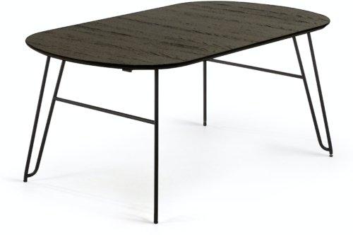 På billedet ser du variationen Milian, Udtrækkeligt spisebord fra brandet LaForma i en størrelse H: 75 cm. B: 100 cm. L: 170 cm. i farven Sort/Natur