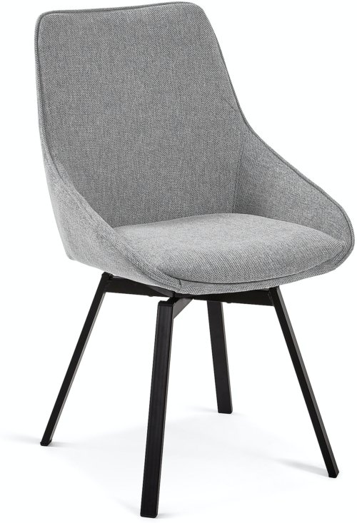 På billedet ser du variationen Jenna, Spisebordsstol fra brandet LaForma i en størrelse H: 86 cm. B: 50 cm. L: 59 cm. i farven Grå/Sort