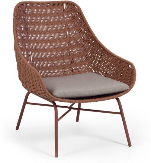 På billedet ser du variationen Abeli, Udendørs spisebordsstol fra brandet LaForma i en størrelse H: 85 cm. B: 68 cm. L: 67 cm. i farven Lyserød