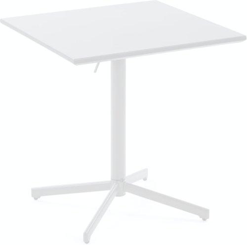 På billedet ser du variationen Alyssia, Udendørs spisebord fra brandet LaForma i en størrelse H: 110 cm. B: 70 cm. L: 70 cm. i farven Hvid