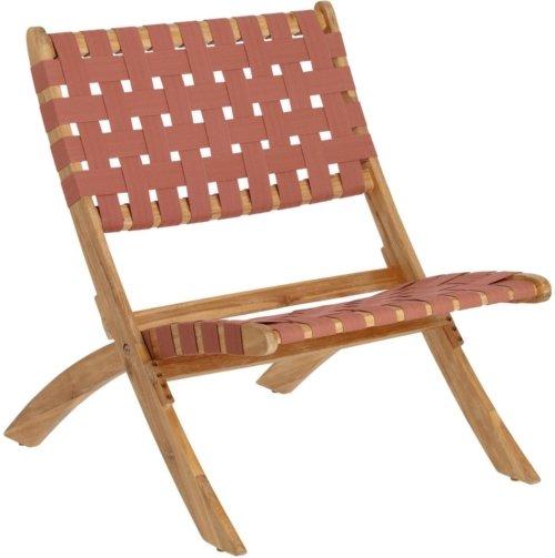 På billedet ser du variationen Chabeli, Udendørs lænestol fra brandet LaForma i en størrelse H: 75 cm. B: 60 cm. L: 73 cm. i farven Lyserød