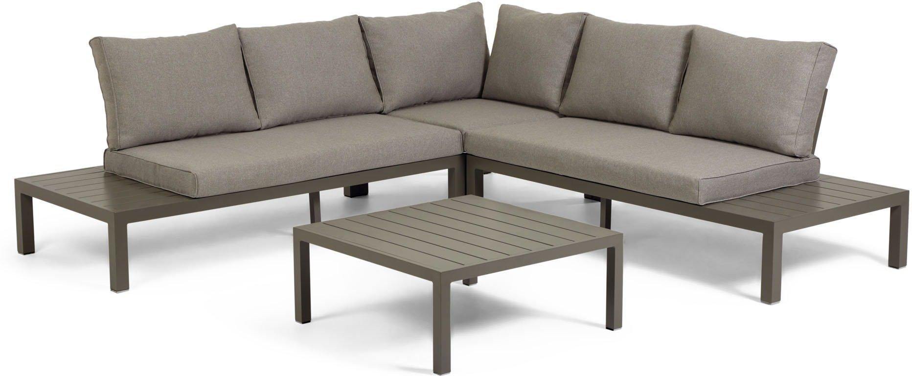 Køb Duka, Udendørs sofasæt by LaForma (H: 65 cm. B: 246 cm. L: 246 cm., Brun)
