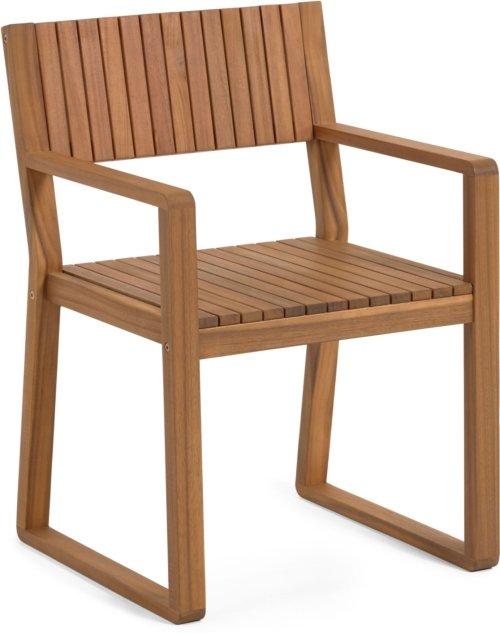 På billedet ser du variationen Emili, Udendørs spisebordsstol fra brandet LaForma i en størrelse H: 85 cm. B: 57 cm. L: 57 cm. i farven Natur
