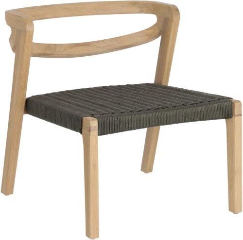 På billedet ser du variationen Ezilda, Udendørs lænestol fra brandet LaForma i en størrelse H: 65 cm. B: 61 cm. L: 62 cm. i farven Grøn