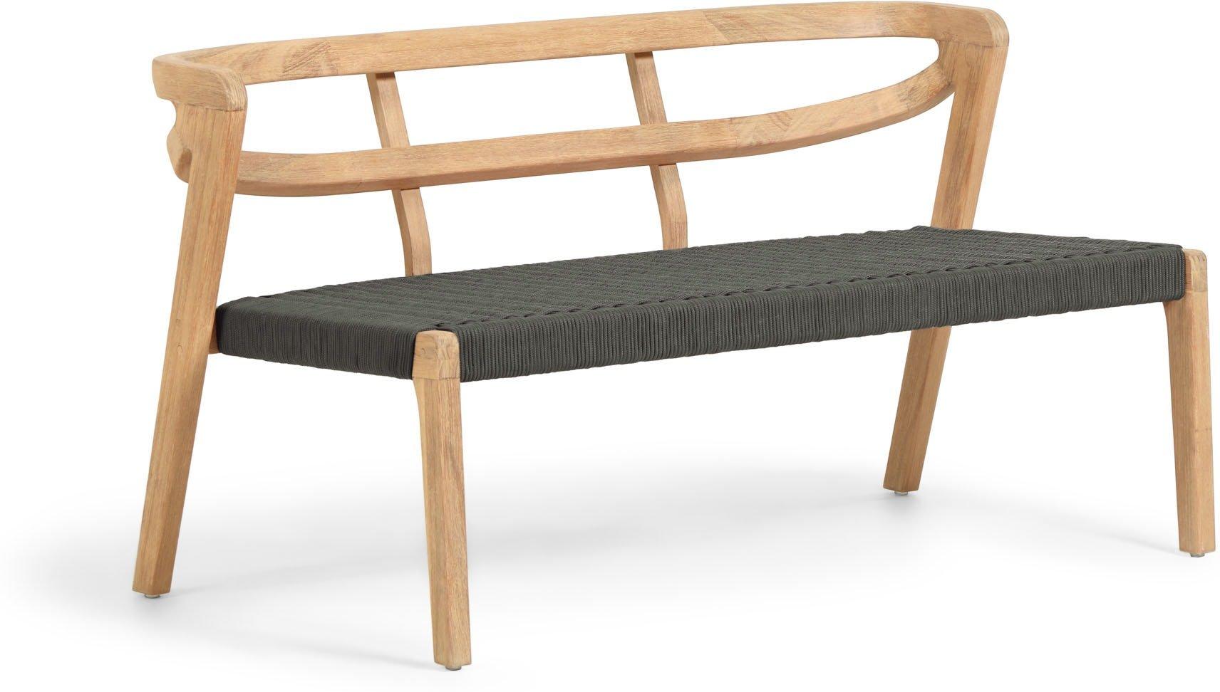 Ezilda, 3-personers sofa by LaForma (H: 65 cm. B: 122 cm. L: 62 cm., Grøn)