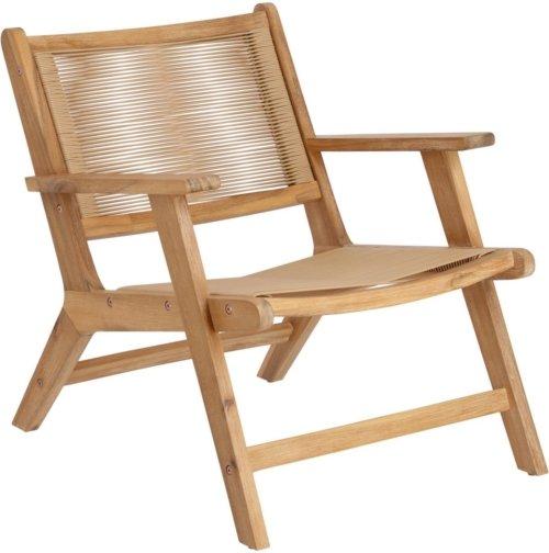 På billedet ser du variationen Geralda, Udendørs lænestol fra brandet LaForma i en størrelse H: 74 cm. B: 65 cm. L: 80 cm. i farven Natur