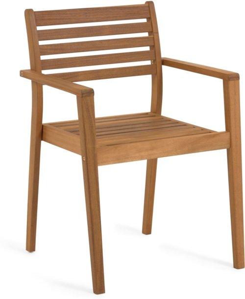 På billedet ser du variationen Hanzel, Udendørs spisebordsstol fra brandet LaForma i en størrelse H: 85 cm. B: 56 cm. L: 57 cm. i farven Natur