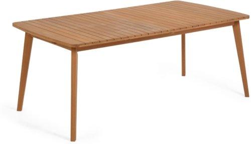 På billedet ser du variationen Hanzel, Udendørs udtrækkeligt spisebord fra brandet LaForma i en størrelse H: 75 cm. B: 100 cm. L: 183 cm. i farven Natur