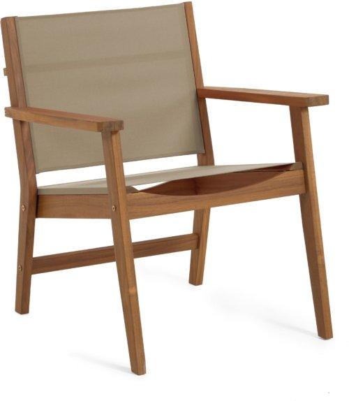 På billedet ser du variationen Hilda, Udendørs lænestol fra brandet LaForma i en størrelse H: 78 cm. B: 56 cm. L: 66 cm.