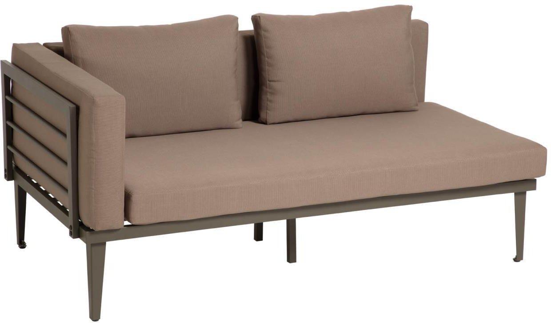 Pascale, Udendørs 2-personers sofa by LaForma (H: 73 cm. B: 160 cm. L: 92 cm., Grå/Brun)