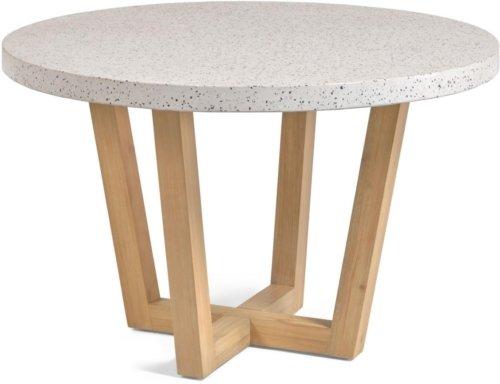 På billedet ser du variationen Shanelle, Udendørs spisebord fra brandet LaForma i en størrelse H: 77 cm. B: 120 cm. L: 120 cm. i farven Hvid/Natur