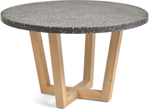 På billedet ser du variationen Shanelle, Udendørs spisebord fra brandet LaForma i en størrelse H: 77 cm. B: 120 cm. L: 120 cm. i farven Grå/Natur