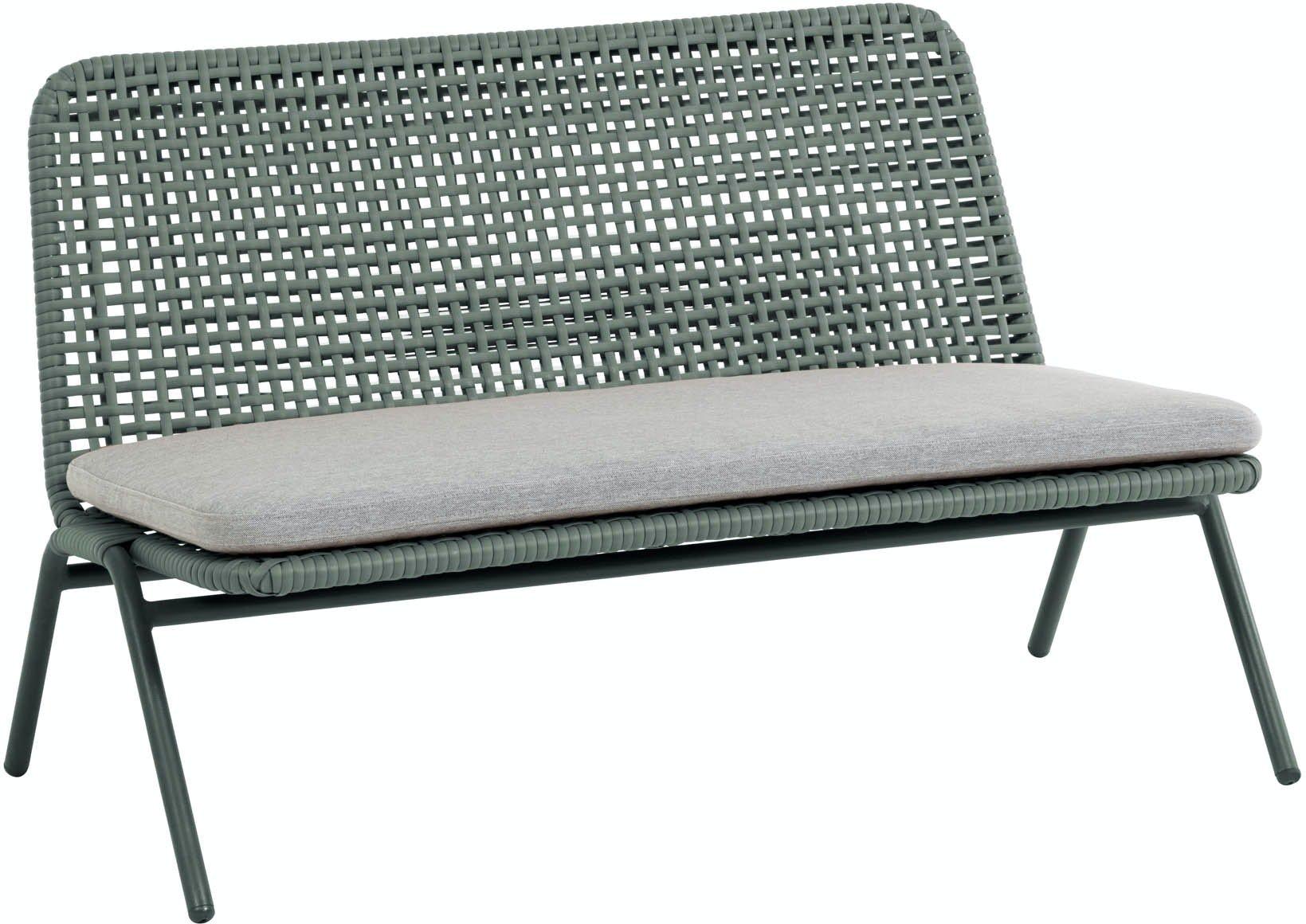 Wivina, Udendørs 2-personers sofa by LaForma (H: 72 cm. B: 120 cm. L: 62 cm., Grøn)