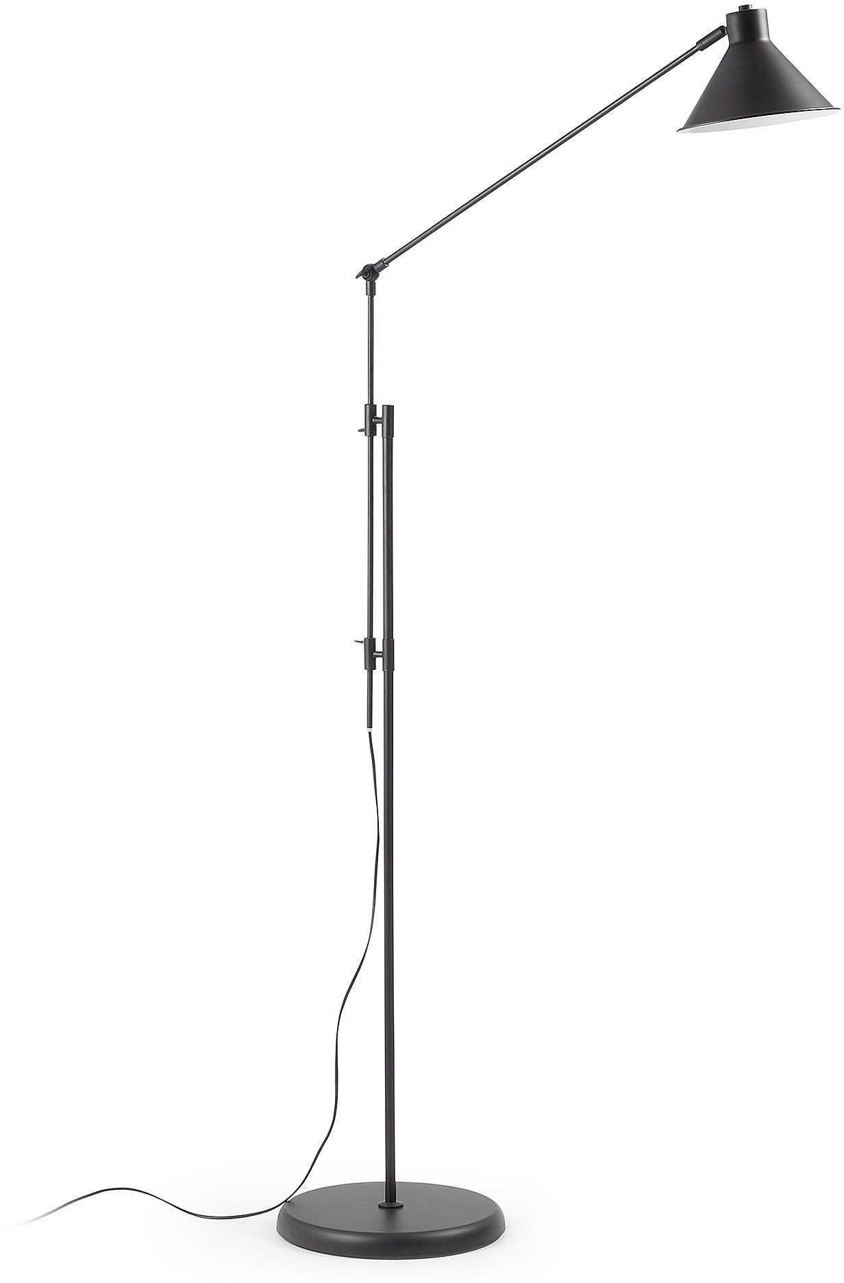 Køb Dione, Gulvlampe by LaForma (H: 220 cm. B: 100 cm. L: 32 cm., Sort)