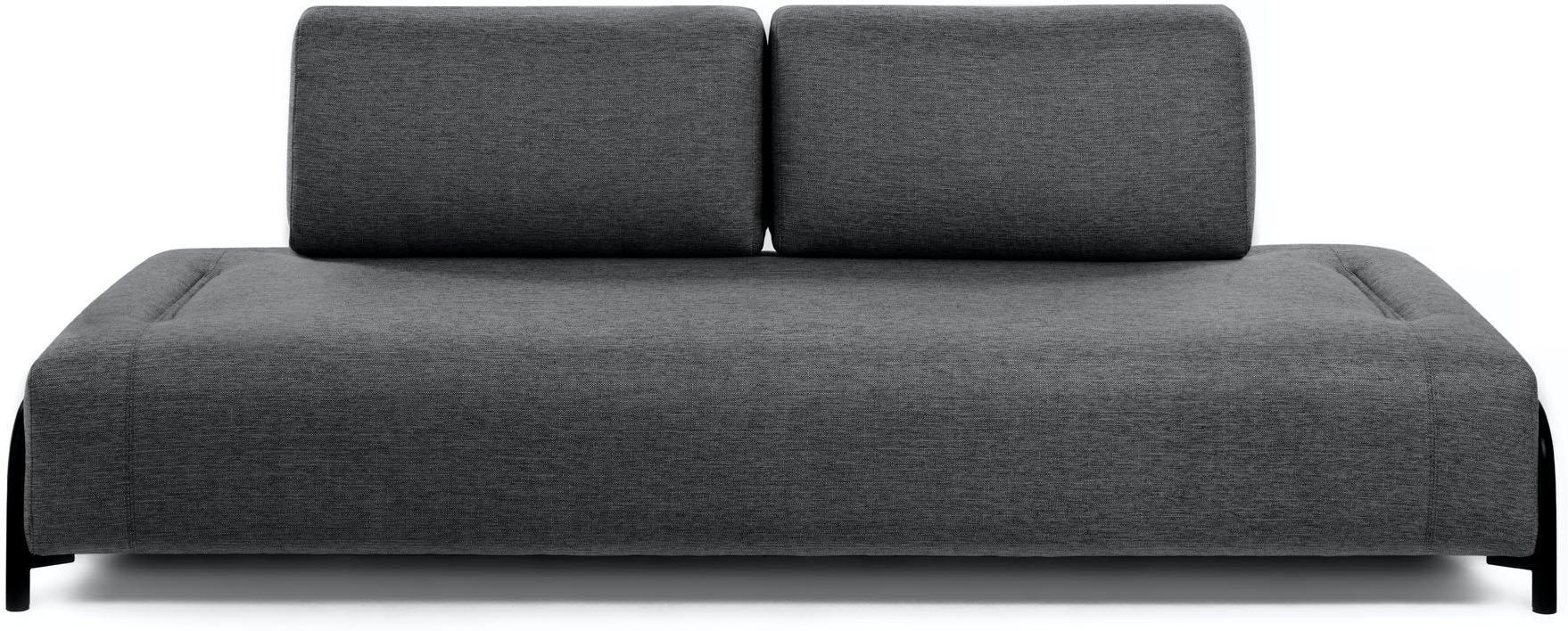 Compo, 3-personers sofa by LaForma (Uden armlæn, Sort)