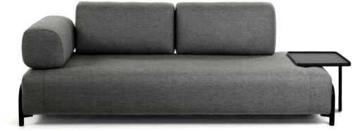 På billedet ser du variationen Compo, 3-personers sofa fra brandet LaForma i en størrelse H: 82 cm. B: 252 cm. L: 98 cm. i farven Grå