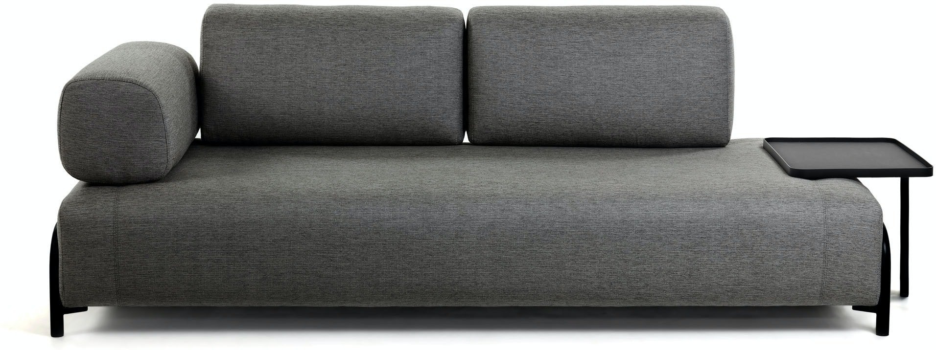 Compo, 3-personers sofa by LaForma (Armlæn venstre, Grå)