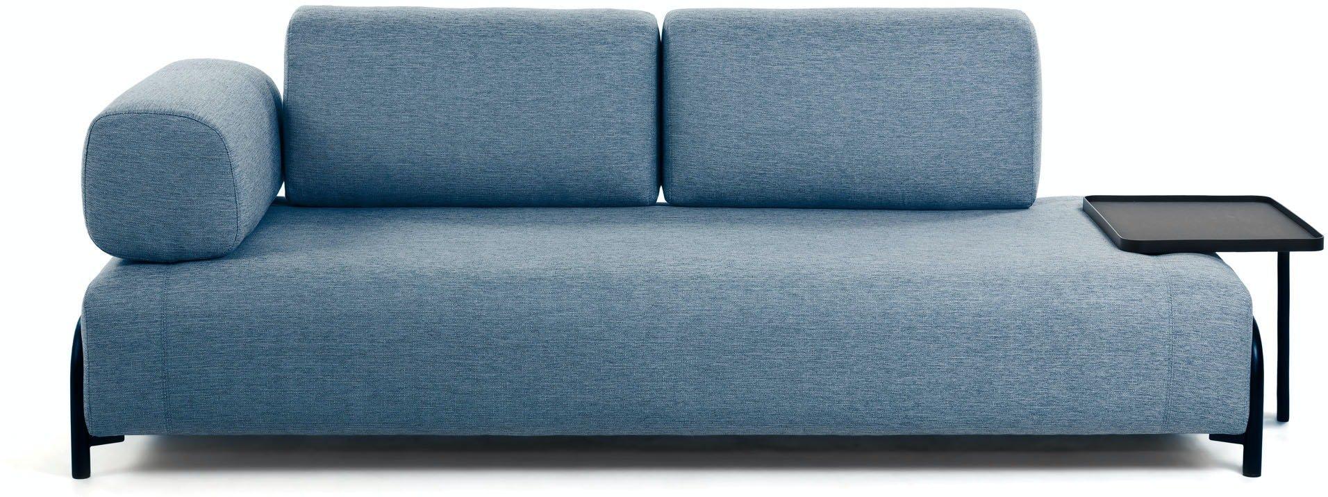 Compo, 3-personers sofa by LaForma (Armlæn venstre, Blå)