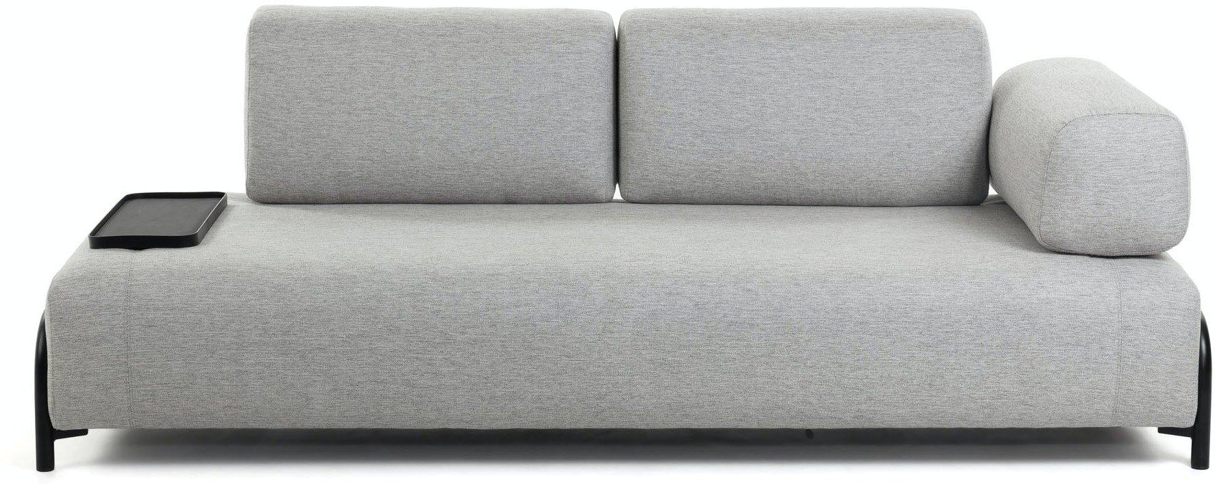 Compo, 3-personers sofa by LaForma (Armlæn højre, Grå)