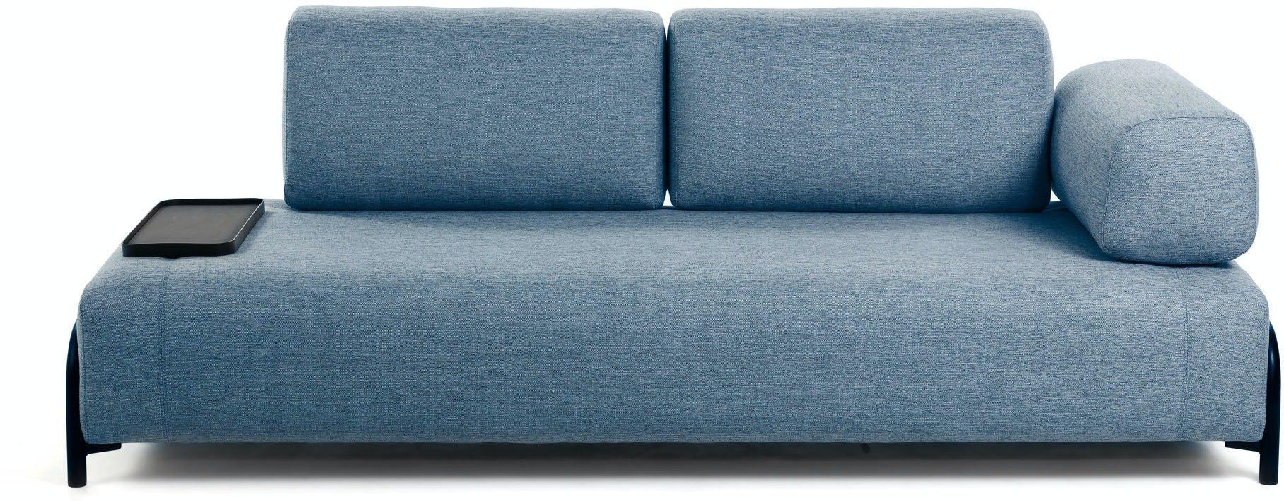 Compo, 3-personers sofa by LaForma (Armlæn højre, Blå)