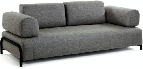 På billedet ser du variationen Compo, 3-personers sofa fra brandet LaForma i en størrelse H: 82 cm. B: 232 cm. L: 98 cm. i farven Sort