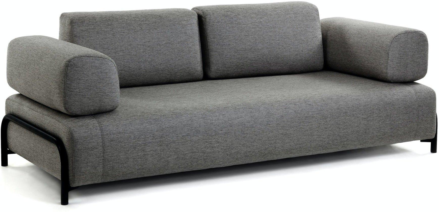 Compo, 3-personers sofa by LaForma (Armlæn v/h, Sort)