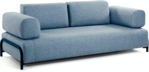 På billedet ser du variationen Compo, 3-personers sofa fra brandet LaForma i en størrelse H: 82 cm. B: 232 cm. L: 98 cm. i farven Blå