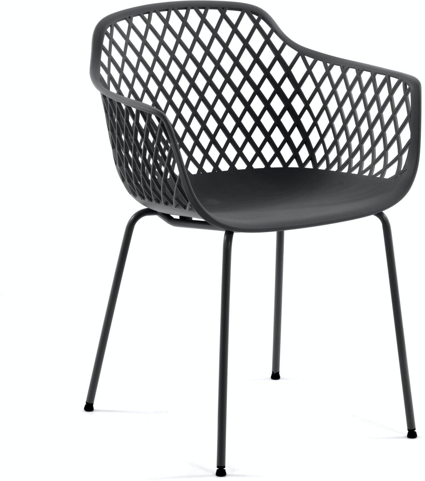 Quinn, Spisebordsstol til udendørs- og indendørsbrug by LaForma (H: 80 cm. B: 60 cm. L: 55 cm., Grå)
