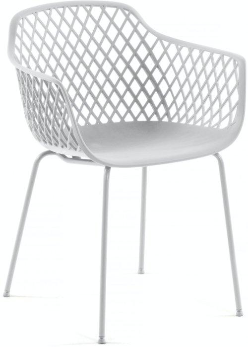 På billedet ser du variationen Quinn, Spisebordsstol fra brandet LaForma i en størrelse H: 80 cm. B: 60 cm. L: 55 cm. i farven Hvid