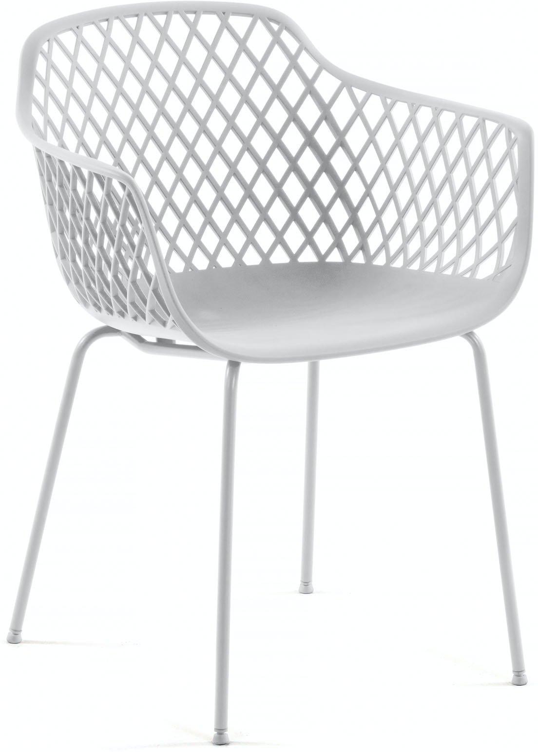Quinn, Spisebordsstol til udendørs- og indendørsbrug by LaForma (H: 80 cm. B: 60 cm. L: 55 cm., Hvid)