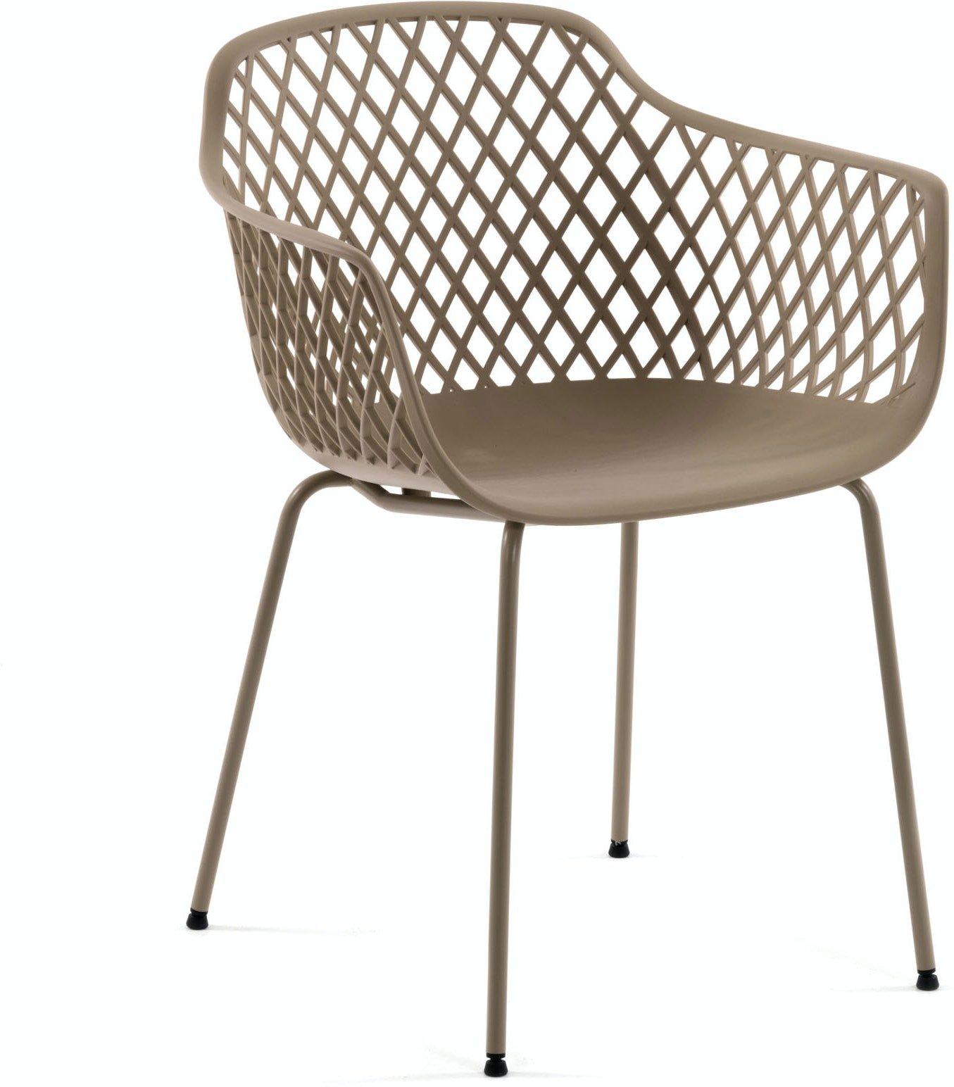 Quinn, Spisebordsstol til udendørs- og indendørsbrug by LaForma (H: 80 cm. B: 60 cm. L: 55 cm., Brun)