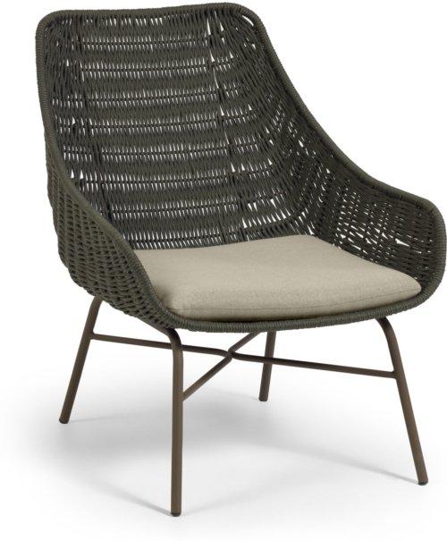 På billedet ser du variationen Abeli, Udendørs spisebordsstol fra brandet LaForma i en størrelse H: 85 cm. B: 68 cm. L: 67 cm. i farven Grøn